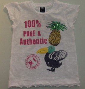 "T-shirt menina Girandola ""ananás"""